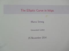 Wiskundelezing - The elliptic curve in https